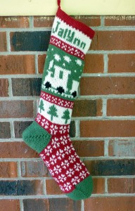 The front of Jalynn's stocking.