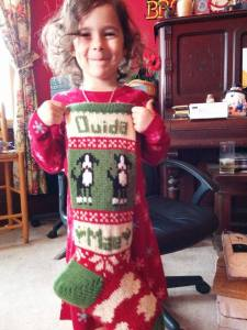 Ouida Mae and her Stocking