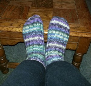 Purple Raggi Socks