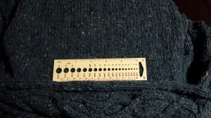 Stitch gauge - 17.5 stitches over 4 inches