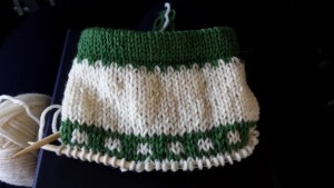 The beginning of Lollypop's Christmas Stocking.