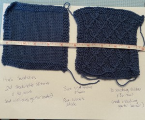 Post-blocking swatch size.
