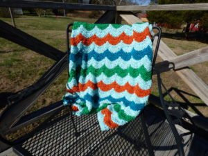 Happy Baby Throw Crocheted Blanket