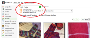 Ravelry Friends RSS Options