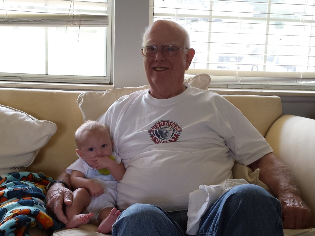 lollypop with his granddaddy