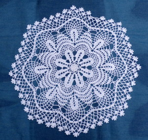 rose medallion crochet doily