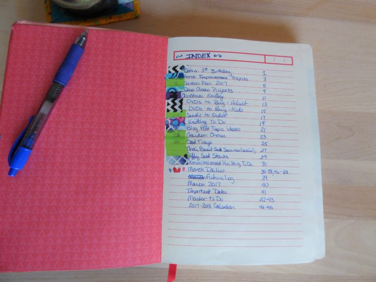 buller journal index